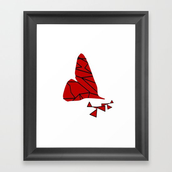 broken hearted Framed Art Print