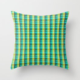 Lumberjack Attack! Plaid Throw Pillow