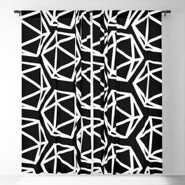 D20 Pattern - White & Black Blackout Curtain