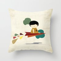 be brave Throw Pillows featuring Brave by yael frankel