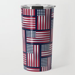 USA Baseball Flag Travel Mug