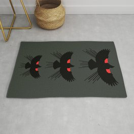 Seasons K Designs Red Winged Blackbird for Salty Raven Rug
