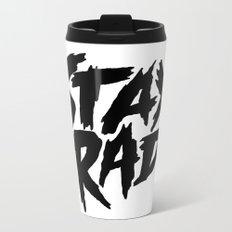 Stay Rad (on White) Metal Travel Mug