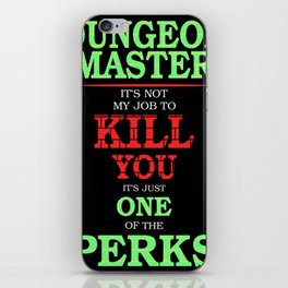 DM Perks iPhone Skin