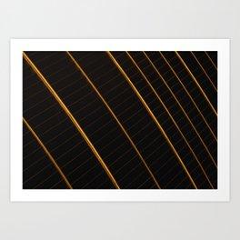 Golden strings Art Print