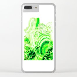 Malachite Green Clear iPhone Case