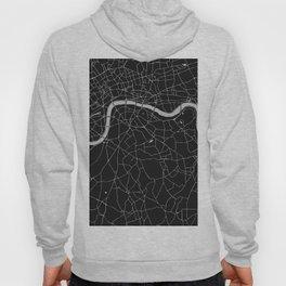 London Black on Gray Street Map Hoody