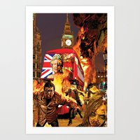 Zombie Cities: God Save The Queen Art Print