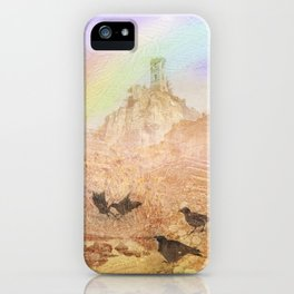 Rawens and ancient castle iPhone Case