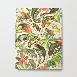 Chameleon Party Metal Print