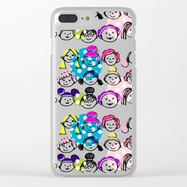 Sister hood - women internacional pink Clear iPhone Case