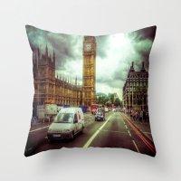 ben giles Throw Pillows featuring Ben by Christine Workman