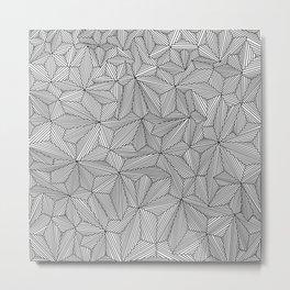 Digital Zentangle Light Metal Print