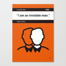 No010 MY Invisible Man Book Icon poster Canvas Print