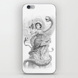 Astro Babe B&W iPhone Skin