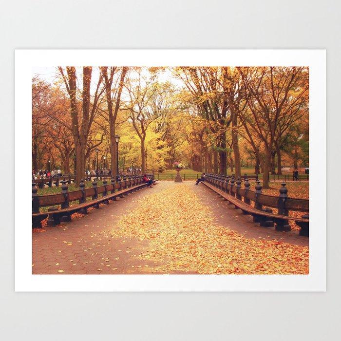 Autumn - Central Park - New York City Art Print