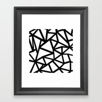 Ab Out Thicker B Framed Art Print
