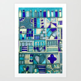 Edinburgh architectural motifs Art Print