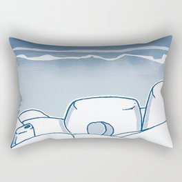 In Paradise Labyrinth Andre Bloc Rectangular Pillow
