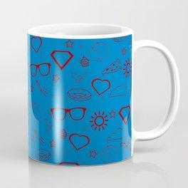 Supergirl/Kara's pattern - red Coffee Mug