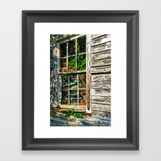 Overgrown Behind the Window Framed Art Print