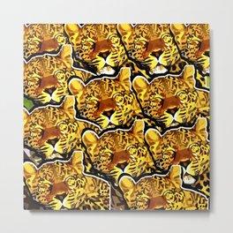 leopard graphic montage Metal Print