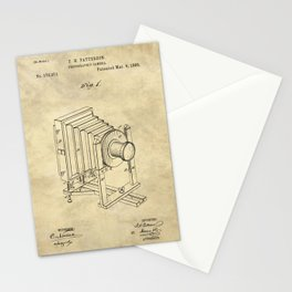 Industrial Farmhouse Blueprint Camera Stationery Cards