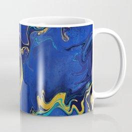 Lapis and Teal Liquid Art Coffee Mug