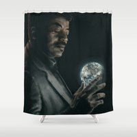 cosmos Shower Curtains featuring Cosmos by mycolour