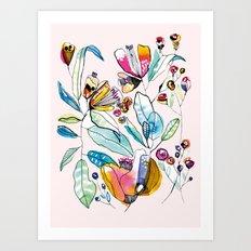 Flowers in the Wind Art Print
