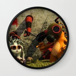 GasTon and Tento Wall Clock