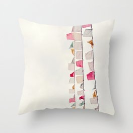 prayer flags no. 2 Throw Pillow