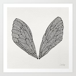 Black Cicada Wings Art Print