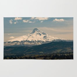 Mountain Valley Pacific Northwest - Nature Photography Rug