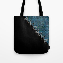 Lacing . 2 . Blue and black . Tote Bag