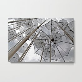 FREEDOM SURREAL FLYING UMBRELLAS  Metal Print