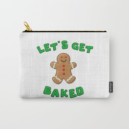 Christmas Gingerbread Let's get baked Carry-All Pouch