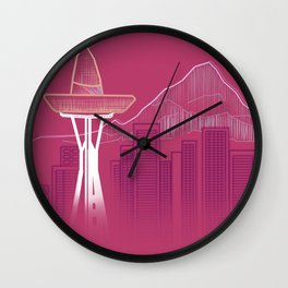 Seattle Sombre Wall Clock