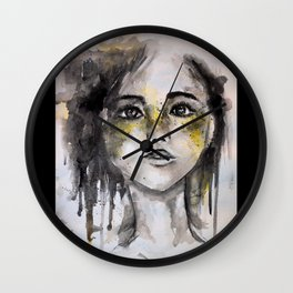HER, A Watercolour Portrait Wall Clock