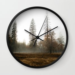 Fog in the Valley Wall Clock