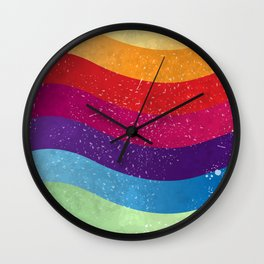 Colorful stripes 02 Wall Clock