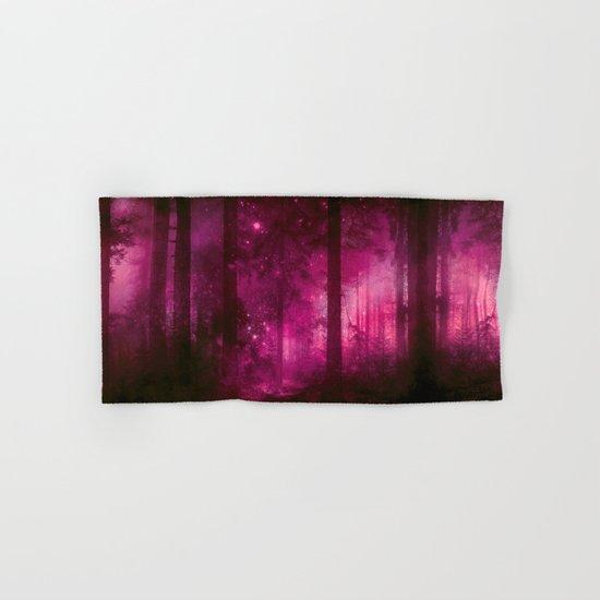 Into the purpur light Hand & Bath Towel