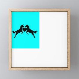 Unicorns in Love Framed Mini Art Print