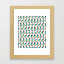 Pastel Diamonds Framed Art Print