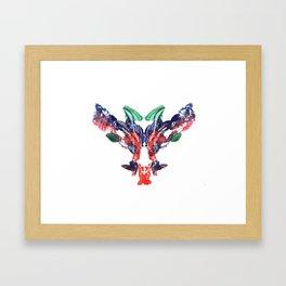 rorschach beasty 01 Framed Art Print