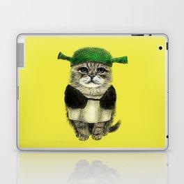 Shreky Cat Laptop & iPad Skin