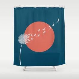 Cat and Plant 25: Cat Dandelion Shower Curtain