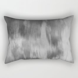 Smokey Mist (Gray) Illustration, Digital Watercolor Camo Blend - Fluid Art Rectangular Pillow