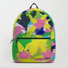 Impressionistic Daisies in the Garden Backpack
