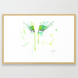 Spring Eyes Framed Art Print